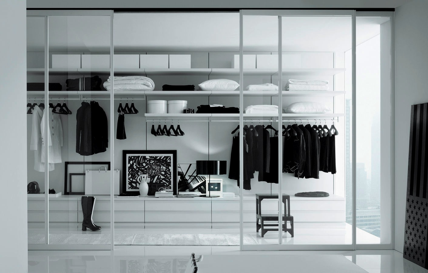 Vestidores juluis - Black and white dressing room ...