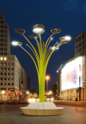 Solar Tree, LichtinstallationARTEMIDE mit Sharp